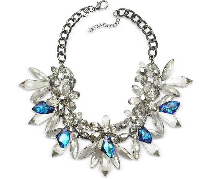 Halskette Floral mit Kristallen - Anabela Chan