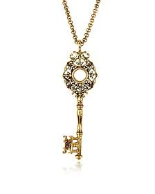 Brass Key Long Necklace - Alcozer & J