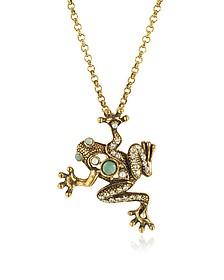 Brass Frog Necklace - Alcozer & J