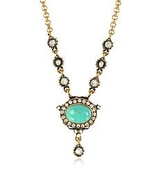 Blue Sky Brass Necklace - Alcozer & J