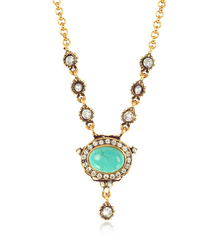 Blue Sky Brass Necklace - Alcozer & J