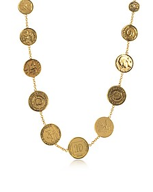 Brass Coin Necklace - Alcozer & J
