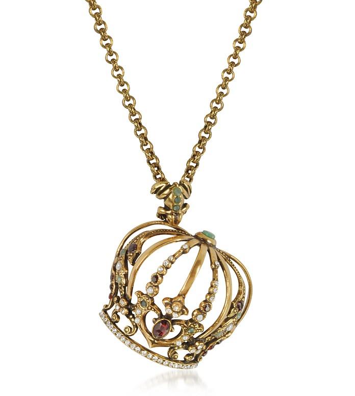 Golden Brass Little Goddess Necklace - Alcozer & J