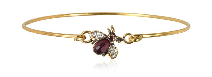 Brass and Crystals Moschina Bangle - Alcozer & J