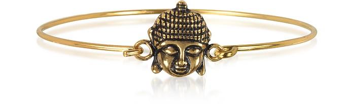 Brass Buddha Bangle - Alcozer & J