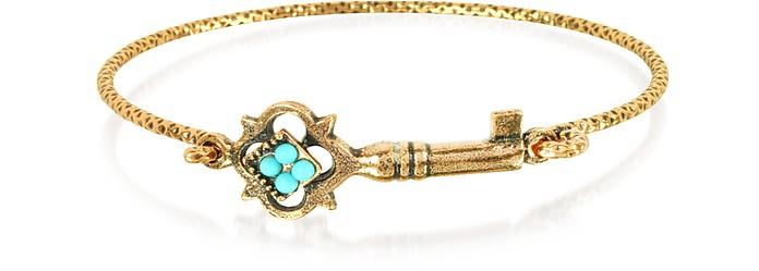 Turquoise Key Bracelet - Alcozer & J