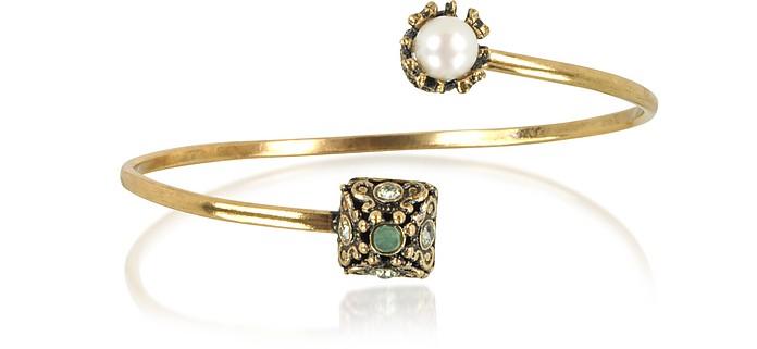 Pyramid and Pearl Bracelet w/Gemstones - Alcozer & J