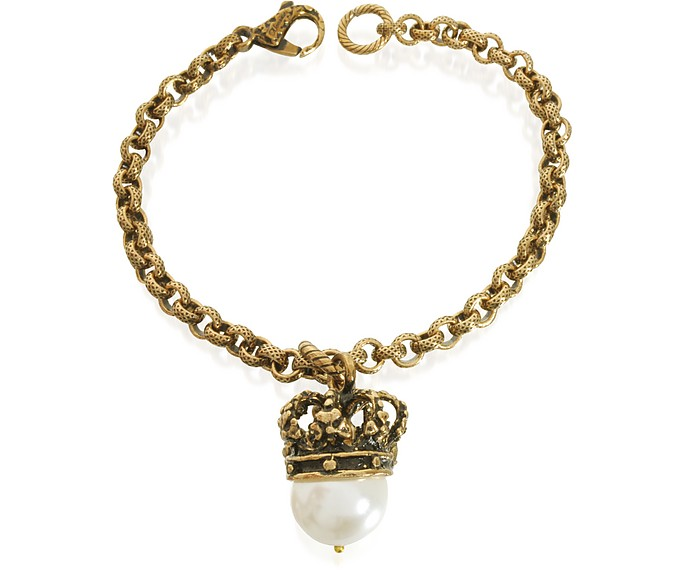 Crown and Pearl Bracelet - Alcozer & J