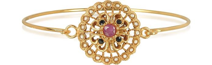 Mandala Bracelet w/Semi Precious Stones - Alcozer & J