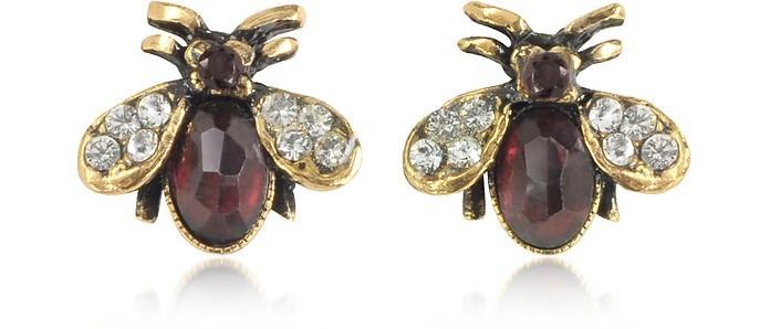 Moschina Earrings w/Garnet - Alcozer & J