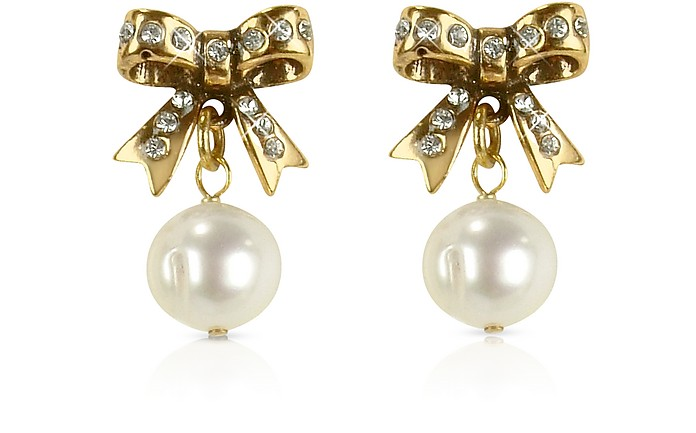 Little Bow Earrings w/Pearls - Alcozer & J