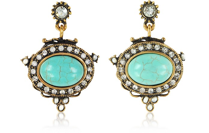 Blue Sky Earrings w/Semi Precious Stones - Alcozer & J