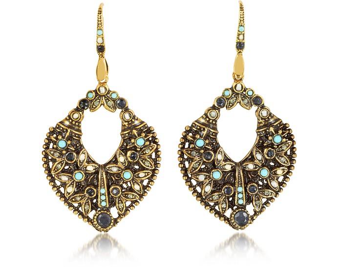 Arabesque Earrings w/Crystals - Alcozer & J