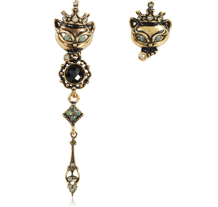 King Cat Asymmetrical Earrings - Alcozer & J
