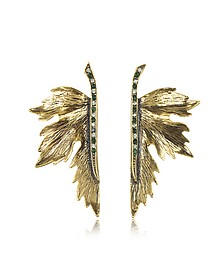 Nymph Goldtone Brass Earrings - Alcozer & J