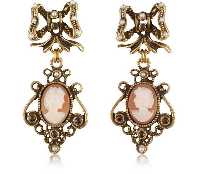 Cameo Drop Earrings - Alcozer & J