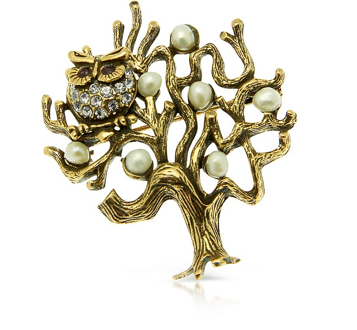 Tree with Owl Brooch - Alcozer & J