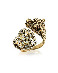 Panther and Heart Brass Ring - Alcozer & J