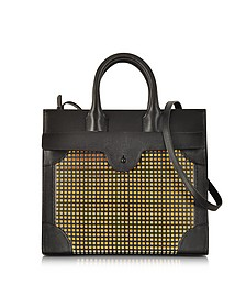 Carnet Perforated Leather Tote Bag