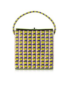 Printed Patent Leather Tote
