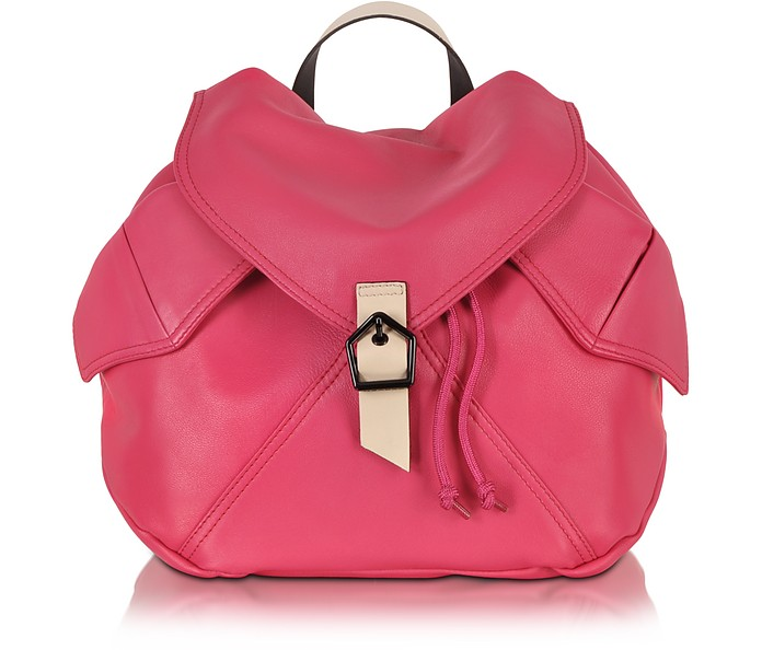 Plain Peony Leather Backpack - Carven