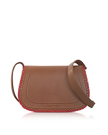 Mazarine Toscane Brown Leather Crossbody Bag - Carven