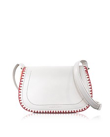 Mazarine Ivory Leather Crossbody Bag - Carven