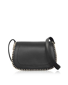 Mazarine Black Leather Crossbody Bag - Carven