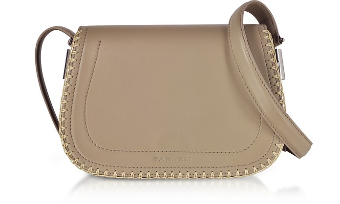 Mazarine Clay Leather Crossbody Bag - Carven