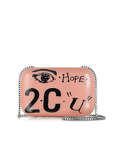 Blush Printed Clutch
