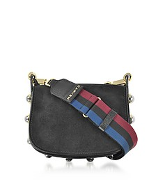 Black Grainy Leather Mini Germain Shoulder Bag - Carven