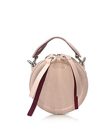 Orsay Nude Leather Round Crossbody Bag - Carven