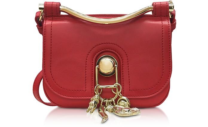 Red Espelette Leather Misti Crossbody Bag - Carven