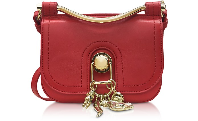 Pepper Red Leather Misti Crossbody Bag - Carven