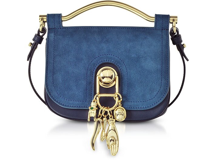 Suede and Leather Misti Crossbody Bag - Carven