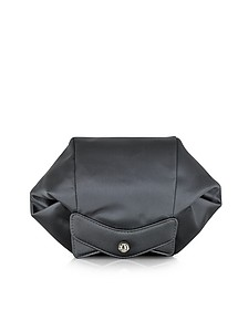 Satin Clutch w/Zipper and Magnetic Fastening