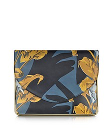 Saint Sulpice Multicolor Printed Leather Clutch w/Metal Detail