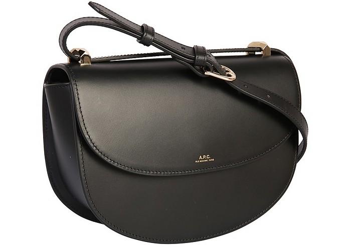 fdb82bee7d A.P.C. Black Geneve Leather Crossbody Bag at FORZIERI