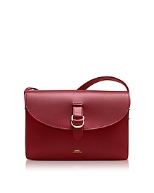 Red Leather Alicia Shoulder Bag - A.P.C.