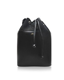 Black Smooth Leather and Nubuck Clara Bucket Bag - A.P.C.