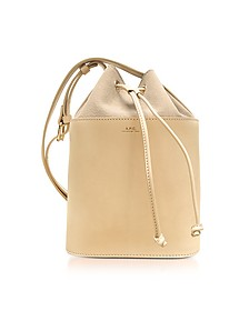 Beige Natural Smooth Leather and Nubuck Clara Bucket Bag - A.P.C.