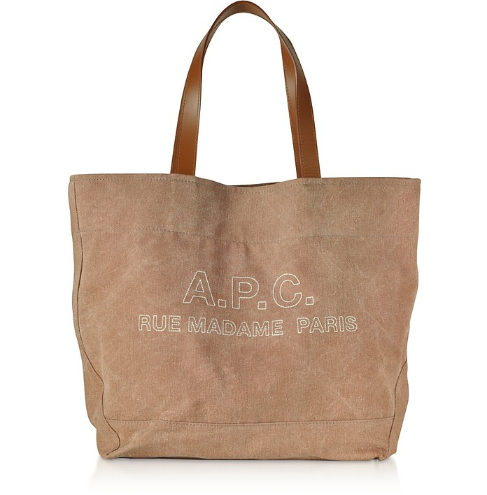 Denim and Leather Ingride Tote Bag - A.P.C.