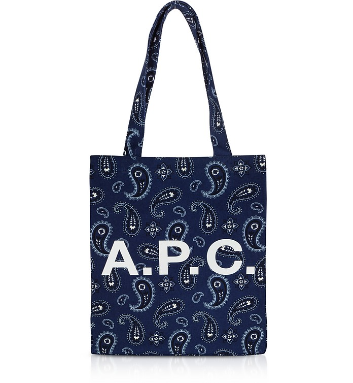 Paisley Printed Canvas Lou Tote Bag - A.P.C.