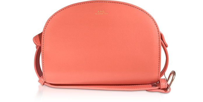 Coral Leather Half Moon Mini Shoulder Bag - A.P.C.