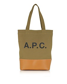 Axel Light Khaki Canvas Tote Bag - A.P.C.