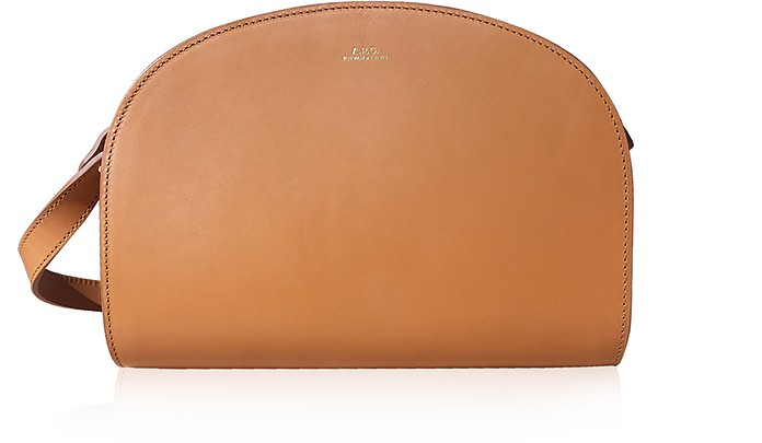 Half Moon Smooth Leather Crossbody Bag - A.P.C.