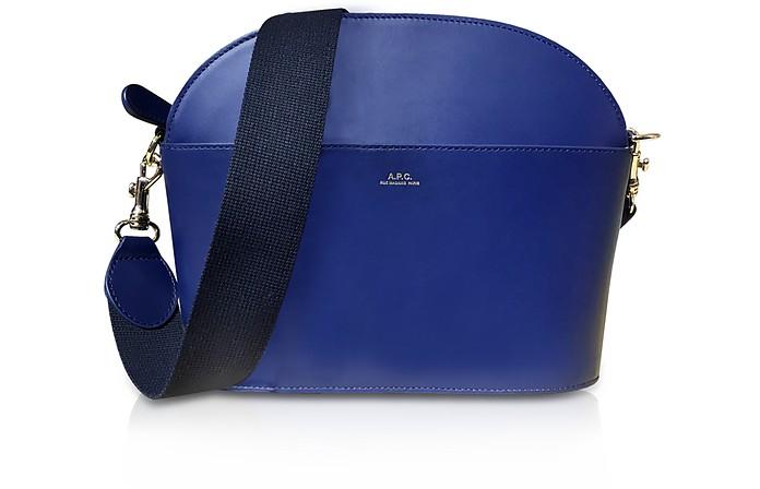 Marine Blue Leather Gabrielle Shoulder Bag - A.P.C.