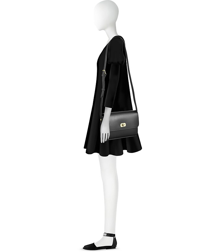 Greenwich Black Leather Crossbody Bag