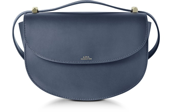 f580e7f4be A.P.C. Navy Geneve Leather Crossbody Bag at FORZIERI Canada