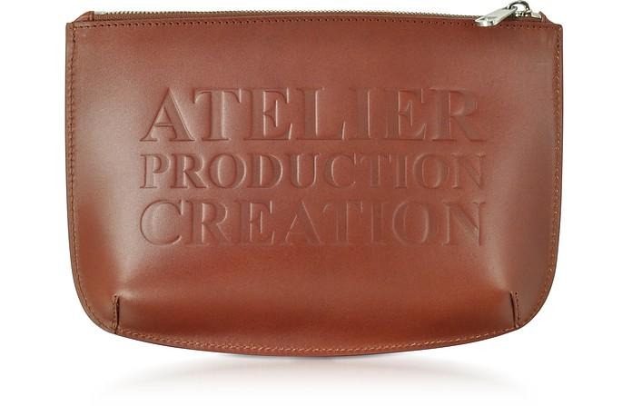 Atelier Marron Leather Pochette - A.P.C.